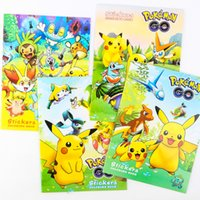 Wholesale Xmas Pikachu Coloring Books Poke Children Cartoon Early Educational Anime Art Book With Stickers Graffiti Book Children Gift