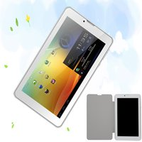 """Cheap New Design 7"""" Inch Leather holeter 3G Phone Call Android Tablets Pc WiFi Bluetooth FM Dual core Dual Camera 2 SIM Card"""
