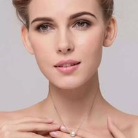 abalone shell jewellery - fashion style S925 sterling silver shell pearl pendant silver chain necklace for ladies fine jewellery MM pearl popular