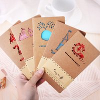 Wholesale Creative hollow out kraft paper greeting CARDS Birthday is valentine s day mother s day greeting card personality Holiday greeting CARDS