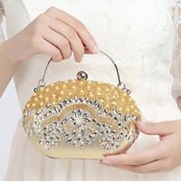 2016 Nuevas mujeres de lujo de forma ovalada en forma de pequeños bolsos bolsos de embrague de las señoras bolsos para las mujeres del partido / de la boda hombro Messenger Bags