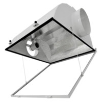 aluminum reflector lamp - 8 Inches Grow Lamp Shades Hps Air Cooled Light Reflector with