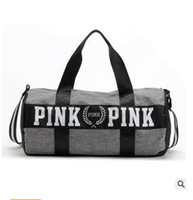 Unisex beach interior design - Handbags Bags for Women Men Pink Duffel Bag Vs Ladies Women Men Secret Travel Bag Waterproof Victoria Design Famous Brand Beach Bags