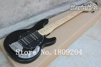 Wholesale Top Quality black Music Man StingRay strings Electric bass Guitar with initiative to pickups V Battery Active Pickup