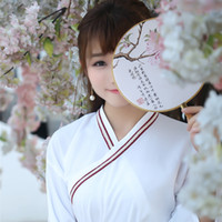ancient chinese clothing sale - YUMU Limited Sale Cotton White red Women Chinese Ancient Hanfu Costume Clothing National Ruqun Dress Suit Garment Hf a4