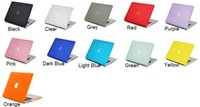 Wholesale Matte Crystal Rubberized Frosted Hard Plastic Case Cover Laptop Shell For Apple Macbook Air Pro with Retina