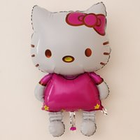 Wholesale New Cute Cartoon KT Cat Aluminum Film Balloon Birthday Party Wedding Decoration Supplies Foil Balloon cm