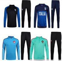 Wholesale 2016 France Italy Belgium Portugal United tracksuits Thailand quality of pants training suits sweatsuits