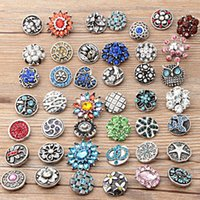 Wholesale Mixed Sales mm Snap Button Rhinestone Metal Snaps Clasp DIY Interchange Ginger Noosa Jewelry Accessories