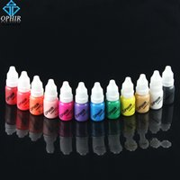 TA098 airbrush nail ink - OPHIR Acrylic Water Inks Airbrush Nail Ink for Nail Art Polish ML Bottle Temporary Tattoo Colors Pigment for Choosing_TA098