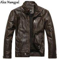 Wholesale Autumn Winter New Men S Plus Velvet Leather Jackets Motorcycle Leather Jackets For Men Men Short Paragraph Coat XG50