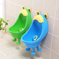 Wholesale 1 Newest Cute Frog Children Stand Vertical Urinal Wall Mounted Baby Urine
