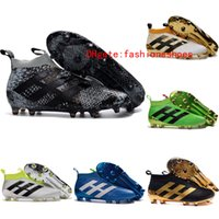 Wholesale 2017 New original Black kids ace purecontrol soccer cleats Mens gold soccer shoes men football boots High top kid aces youth boys cleats