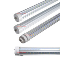 T8 22w,28w,28w,36w,42w,65w SMD 2835 V-Shaped 5ft 8ft T8 Led Tubes Single pin FA8 G13 R17D Led light bulbs Rotating base SMD2835 Led Fluorescent Lights AC85-265V CE RoHS