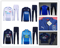 Wholesale 2016 New Top quality taly soccer tracksuit chandal taly football Tracksuit training suit skinny pants Sportsw