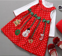 Wholesale brand new girl s clothing sets cotton red colors christmas drop shipping cute kids clothing baby clothing beauty clothing kid
