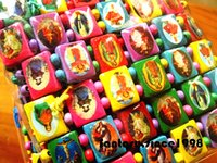 assorted bibles - Brand New Pieces assorted Rainbow Colors Jesus Christ Bible natural Wooden Stretchable religious Cuff Bracelets