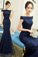 Wholesale Party a toast to the bride dress new word shoulder cultivate one s morality host dinner long evening dress