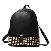 Wholesale Fashion Famous Brand Desinger Backpacks Women Leather Luxury Handbags Rivet Shoulder Bags Totes Messenger Crossbody Bag Free Ship Z045