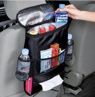 Wholesale Multifunction Automotive Chair Organizer Mum Bag Oxford Waterproof Baby Bottle Thermal Bag Cooler Bag with Tissue Boxes