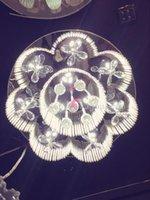 bedroom celing lamp - 24 quot celing lights crystal lamp LED crystal flower lamp living room bedroom study lamp