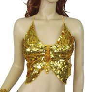 belly dancer tops - Butterfly Dancing Belly Dance Bras Bellydance Dancing Wear Bras Halter Tops Stage Dancer Costume