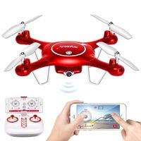 achat en gros de appareil photo tenant-Syma X5UW Wifi FPV 720P Caméra HD Quadcopter Drone avec Plan de vol Route App Control Altitude Hold Fonction