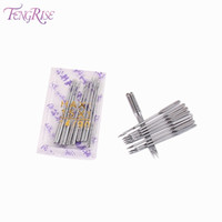 Wholesale FENGRISE Lockstitch Singer Sewing Machine Needles Stainless Steel Pins Apparel Sewing Fabric Tools Accessories Patch