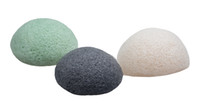 Wholesale Sinland Konjac Sponge Facial Cleansing Sponge for Natural Exfoliating and Deep Pore Cleansing Charcoal Black Natural White and Gr