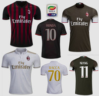 abate soccer - Thai quality AC Milan RD soccer jersey BACCA KAKA L ADRIANO SUSO LAPADULA ABATE Home away white football shirts