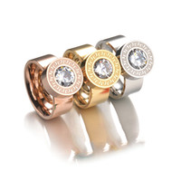 Wholesale 2017 Fashion Color Zircon Crystal Stone Interchangeable Rings K Gold Plated L Stainless Steel Rings For Women