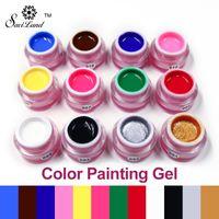 acrylic paint primer - Saviland LED UV Art Paint Polish Colors Gel Nails D Painting Polish Hot Sale Long Lasting Primer Acrylic Varnish