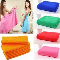 big bath towels - New Superfine Microfiber Bath Towels Convenient Soft Body Bath Towel Portable Bath Travel Big Towels For Adults Shower Tools