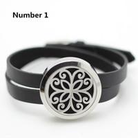 achat en gros de bracelet médaillon gros-Vente en gros bracelet en cuir 30mm diffuseur d'huile médaillon bracelet en argent torsion 316L en acier inoxydable bracelet en médaillon d'aromathérapie