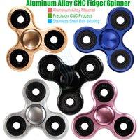 Black alloy mini - Top Fidget Spinner Toys Triangle Hand Spinners Aluminum alloy CNC Torqbar Stainless Bearing EDC Finger Tips Rotation decompress HandSpinner