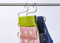 Wholesale And Multifunctional Stainless Steel Hanger S Type Trousers Rack Bathroom Towel Rack Fashion Scarf Hanger