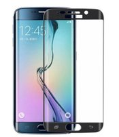 Wholesale Galaxy S7 edge Full Cover D Curved Clear Tempered Glass Film Screen Protector Ultra Thin For Samsung S6 Edge plus with retail box