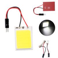 Cheap 100Pcs Lot 12V DC Dome Light T10+ Festoon Adapters COB 24 LED Auto Interior Lamp Bulbs Car Reading Car Styling lighting