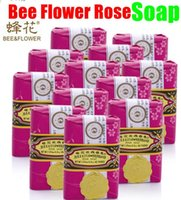 bee skin care - Traditional Chinese Cosmetics Bee Flower Rose Soap Whitening Fresh Perfume Bleaching Handmade Face Body Skin Care Bath Cleaning