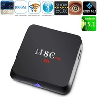 Wholesale M8C PRO TV Box Set Top Box S905 Android Quad core GHz GHz WiFi Bluetooth4 GB GB Smart Media Player