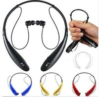 Wholesale HBS earbuds Stereo Sports Bluetooth Headset Wireless Headphone Neckband Style Earphones for iPhone HTC Ultra Brand New HBS800 Black