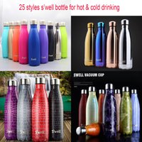 Wholesale Newest Styles S well Bottle Stainless Steel Vacuum Flask Cup Swell Sports Coke Bottle oz ml Hot Cool Drinking