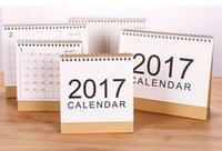 Wholesale 2017 calendar simple calendar Desktop Notepad program calendar styles for option big size and small size festvial gifts for business