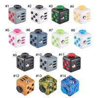 Wholesale 14 colors New novelty Fidget Cube stress relief toys for kids and adults Decompression stress balls wisdom development toy