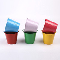 Wholesale medium Candy Color Gardening Drum Children Toys Dabble Play Sand Iron Sheet Medium Please Sandy Beach Barrel