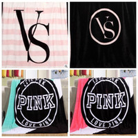 air condition brand - VS Pink Blankets Fashion Flannel Blankets VS Pink Nap Blankets Vs Brand Sofa Air Condition Blankets Office Car Blankets Bedding Gifts B1383