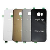 batteries back panel - Original Housing Door For Samsung Galaxy S7 edge G935 Battery Cover Rear Back Glass Panel Replacement Part with Adhesive Sticker DHL