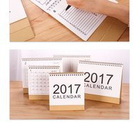 Wholesale 2017 calendar simple calendar Desktop Notepad program calendar styles for option big size and festvial gifts for business promotion offic