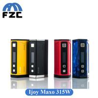 Original Ijoy Maxo 315W Quad Box Mod 18650 Batterie élégante Micro USB Charging Box Mod DHL EMS gratuit