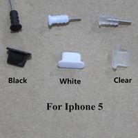 al por mayor iphone 4s contra-El casquillo del tapón del auricular Jack + Tappi de 3.5mm tapa los enchufes anti del enchufe del polvo de los enchufes del muelle del USB para el iphone 4 4S 5 5S Samsung androide
